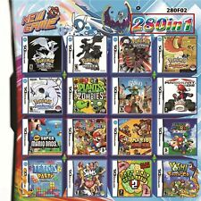 280 in 1 Games Cartridge Mario Multi Jeu Carte pour 2DS NDS DSLITE/DSi/3DS/Xl