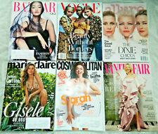 Vogue, Allure, Harper's Bazaar, Cosmopolitan Women's Magazine Lot of 6~BRAND NEW