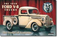 FORD PICK UP - 1939 Model Metal Tin Sign Wall Art