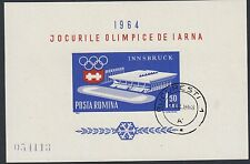 ROMANIA:1963 Winter Olympic Games  Min Sheet SGMS3077 fine used