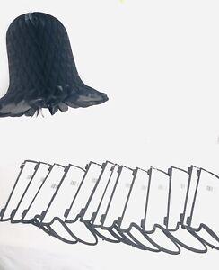 "14 Beistle Honeycomb Art Tissue Westminster  Wedding Bells -  Black 15"" NEW"