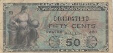 USA United States America military MPC 50 cents series 481 P-M25
