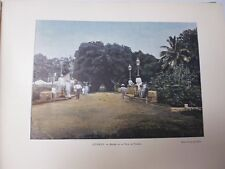 TAHITI: Gravure 19° in folio couleur /ENTREE DE LA VILLE DE  PAPEETE
