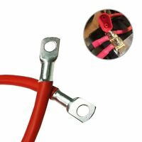 """Positive Red Battery Earth Strap 225mm / 9"""" Switch Starter Cable Car Flexi Lead"""