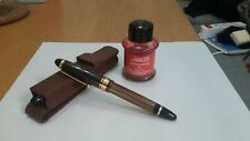 Pilot Custom 823 Fountain Pen M Gold Nib Made in Japan Amber + Leather case +Ink