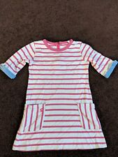 Joules 5 Years Girl Pink White Stripes Dress