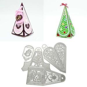 Christmas Tree Box Metal Cutting Dies Stencil DIY Scrapbooking Album Paper Card~