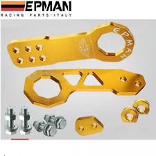EPMAN Racing Aluminum Front Rear Tow Hook kit Anodized Gold * Universal Honda