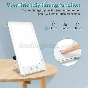 SAD Therapy Lamp 10000 Lux Natural Sunlight SUV-Free Dimming Timing Touch Light