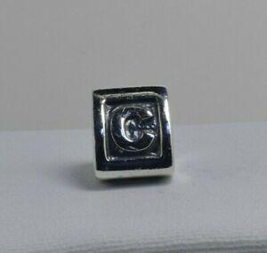 "PANDORA Sterling Silver Letter ""C"" Triangular Charm"
