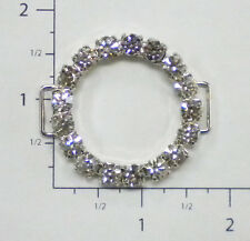 Rhinestone Buckle / Slider / Connector - Czech Crystal RhinestoneTrim # 40303