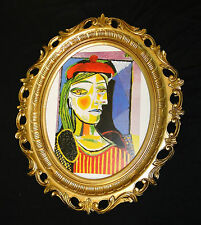 Impresión Artística CUADRO Dora MAHR PABLO PICASSO cuadro con marco Marco de oro