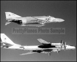 USN F-4 Phantom VF-74 Intercepts Soviet Tu-95 1982 8x10 Aircraft Photos