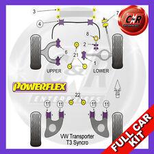 VW T25/T3 Type 2 All Syncro Models (1986 - 1992) Powerflex Complete Bush Kit