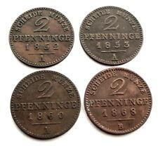 GERMAN STATES, PRUSSIA 2 PFENNIG 1852 A -1853 A-1860 A-1868 B KM#452, 481 K2.1