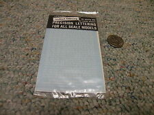 """Letraset Dry Transfers  decals HO V14 Extended RR Roman 1/16"""" white    E50"""