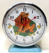 Disney 1964 PLUTO animated alarm clock BAYARD France working *