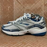 Brooks Adrenaline GTS 9 Men's 12 White Blue Silver Running Shoes 1100531D441