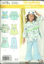 S1476 Child's Dress Top Pants Jacket Sizes 3-8 Simplicity Sewing Pattern