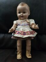 1930 VINTAGE BABY SANDY COMPOSITION DOLL THE WONDER  GENUINE BABY ANTIQUE doll