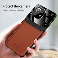For Xiaomi Mi 11, Luxury Shockproof Hybrid PU Leather Soft Case Cover