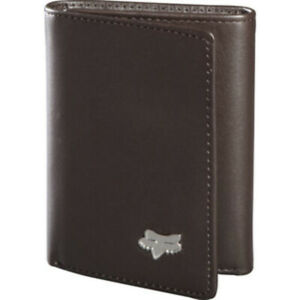 Fox MX Trifold Brown Leather Motocross Dirt Bike Lifestyle Wallet