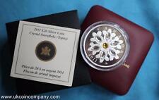 Canadá 2011 Swarovski Cristal Copos de Nieve 1oz Plata Prueba $20 moneda Topacio