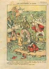 Caricature Politique Uncle Sam John Bull Marianne Japan Peace 1921 ILLUSTRATION