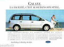 PUBLICITE ADVERTISING 126  1996  la  Ford Galxy  air bag de série