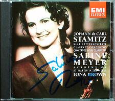 Sabine MEYER Signed Carl & Johann STAMITZ Clarinet Concerto CD Iona Brown EMI
