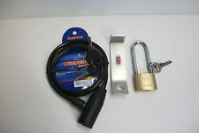 CODYCO COMPLETE SECURITY MADE TO FIT YETI TUNDRA COOLER LOCK & CABLE BRACKET