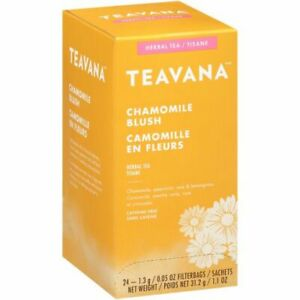 FRESH STOCK Teavana Chamomile Blush Herbal Filterbag Hot Tea - 24 Tea Bags