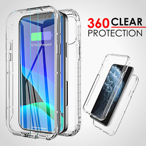 CLEAR Case For iPhone 13 12 11 Pro Max XR X XS 8 7 SE Silicone Cover Shockproof