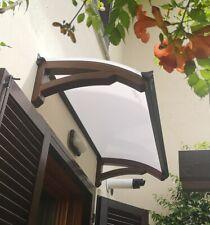 Abris de bois DIY d'entrée fenêtre - Auvent banne entrée - Plantilla LEGNO ONDA