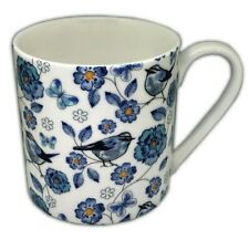 BN Very Large 18oz Boxed Blue Birds Design Large Pint Fine Bone China Mug