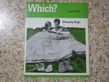 June 1968, WHICH MAGAZINE, Sleeping Bags, Washing Powders, Garden Sprinklers.