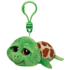 "TY Beanie Boos 3"" ZIPPY the Turtle Plastic Key Chain Clip MWMT's w/ Heart Tags"