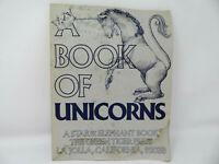 1978 Unicorn Book of 12 Prints - VTG La Jolla, CA Green Tiger Press 1st Edition