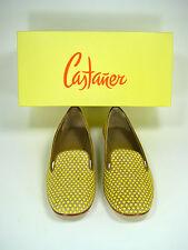 "CASTANER Yellow & Tan Amarillo ""Felisa"" Flat Loafer Size 36 NIB $285"