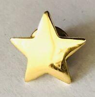 Gold Style Star Tiny Pin Badge Rare Vintage (H2)