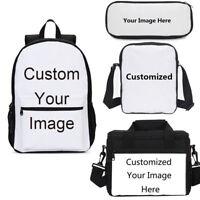 Custom Personalized Backpack Insulated Lunch Bag Pen Case Shoulder Bag Gift Lot