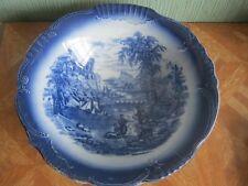 Antique James Kent Fenton Flow Blue Fruit Bowl