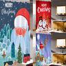 Duschvorhang Weihnachten Weihnachtsmann Badewannenvorhang Wasserdicht mit Haken
