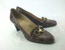 Bruno Magli Reptile Leather Shoes Women's Sz 41 Fits US Sz 10 Excell Cond