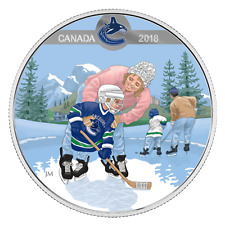 LEARNING TO PLAY: VANCOUVER CANUCKS - 2018 $10 1/2 oz Fine Silver Coin - RCM