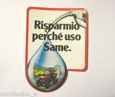 VECCHIO ADESIVO ORIGINALE / Old Sticker Vintage TRATTORI SAME (cm 9 x 13)