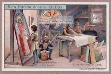 1200s Glass Painting Studio Kiln Art Artist Pittura Sul Vetro1905 Trade Card