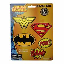 Licensed Decal Kitz DC Comic 5pc Batman Superman Wonder woman Sticker Universal