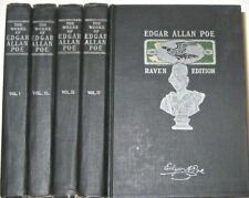 Works of EDGAR ALLAN POE! The RAVEN EDITION! gothic horror not leather set RARE!