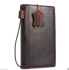 Genuine vintae leather case for LG V20 book cards wallet slim cover brown thin